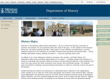 Messiah History Website
