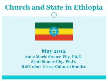 Ethiopia May 2012