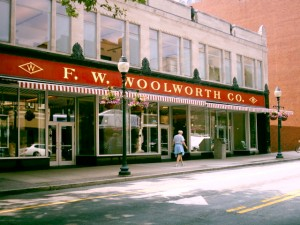 The Woolworth store in Greensboro, now the site for the International Civil Rights Center & Museum