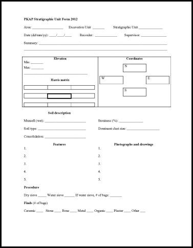 PKAP Stratigraphic Unit Form 2012_1